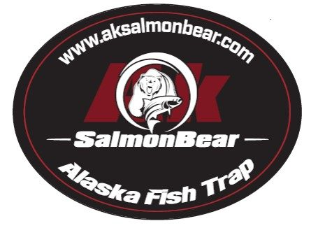 Alaska Salmon Bear Sticker
